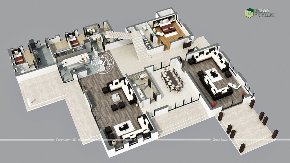 3d floor plan designing